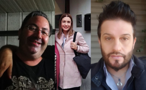 Da sx Francesco Imbesi, Claudia Koll e Salvatore Giardina